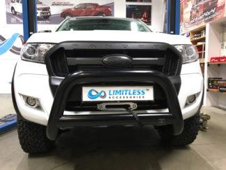 Ford-ranger-2015-standard-matt-svart-frontbåge-extraljushållare-led-ljusbåge-extraljusbåge-extraljus-frontbågar-sverige-ab-svart
