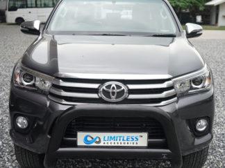 Toyota-Hilux-2015-STANDARD-matt-svart-frontbåge-extraljushållare-led-ljusbåge-extraljusbåge-extraljus-frontbågar-sverige-ab-svart-1